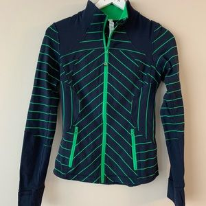 Lululemon green and blue zip up